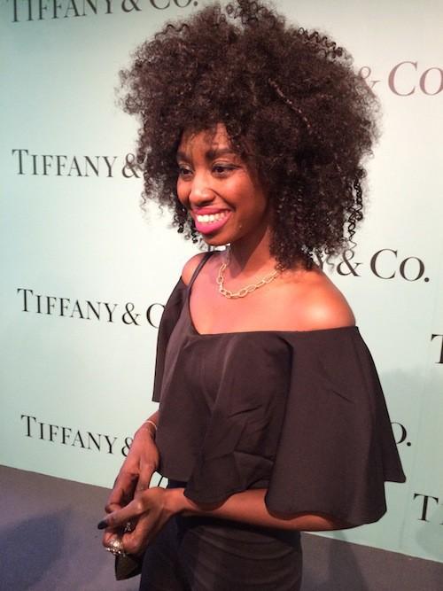 Inna Modja à l'inauguration de la boutique Tiffany & Co sur les Champs-Elysées le 10 juin !