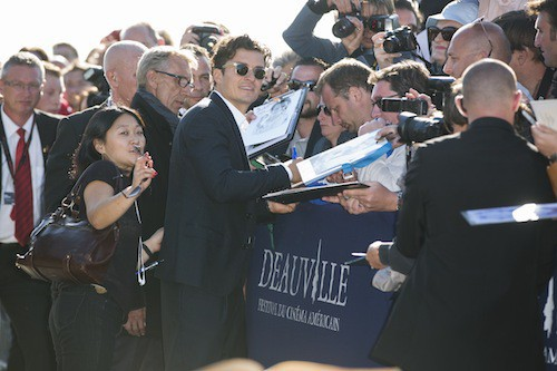 Photos : honoré à Deauville, Orlando Bloom crée l'émeute !
