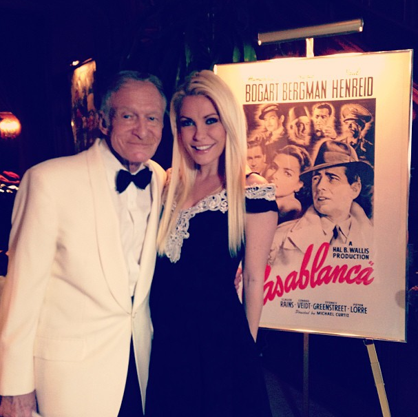 Hugh Hefner et Crystal Harris