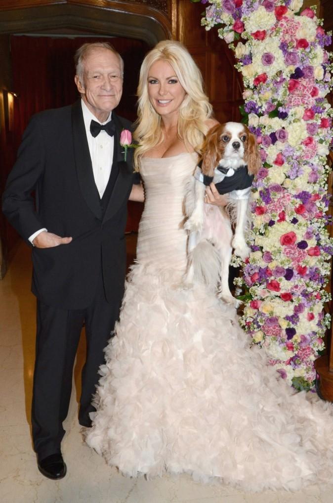 Hugh Hefner et Crystal Harris, Los Angeles, 31 décembre 2012.