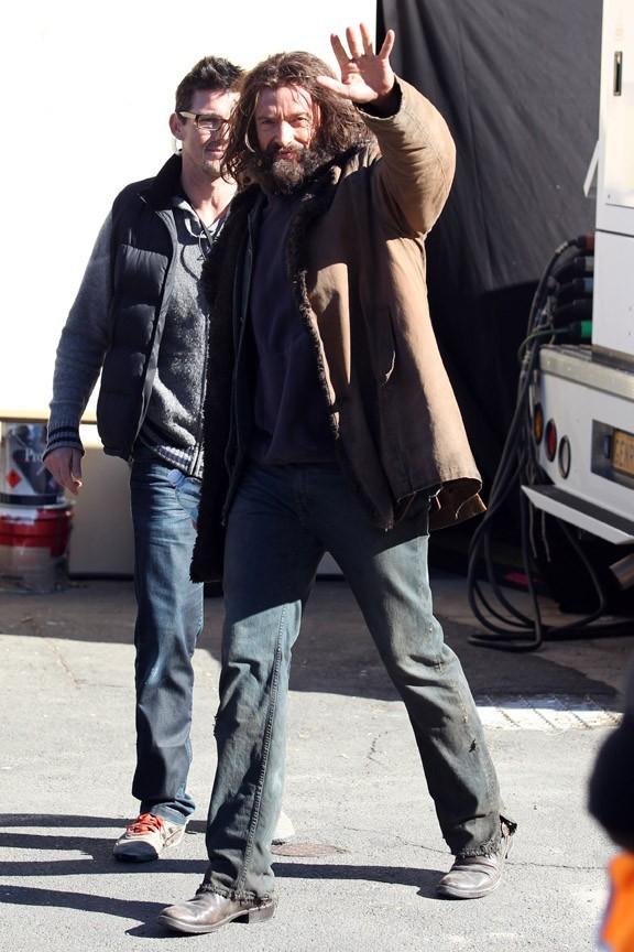 Hugh Jackman en tournage en Australie le 2 août 2012