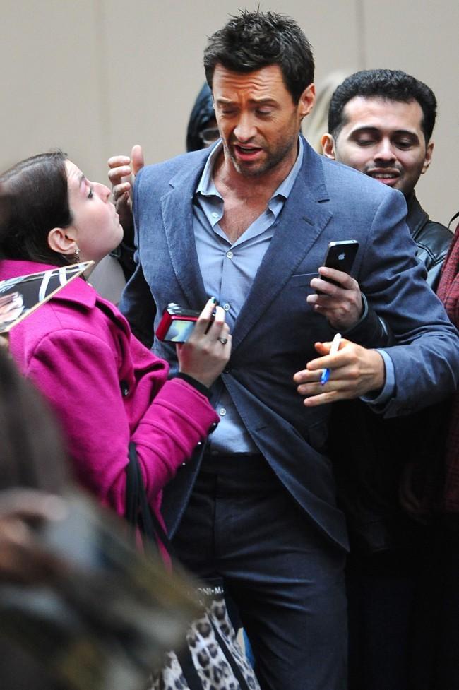 Hugh Jackman à New-York le 10 décembre 2012