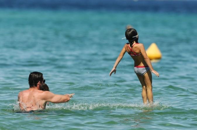 Hugh Jackman en vacances en famille à St. Tropez, le 29 août 2011.