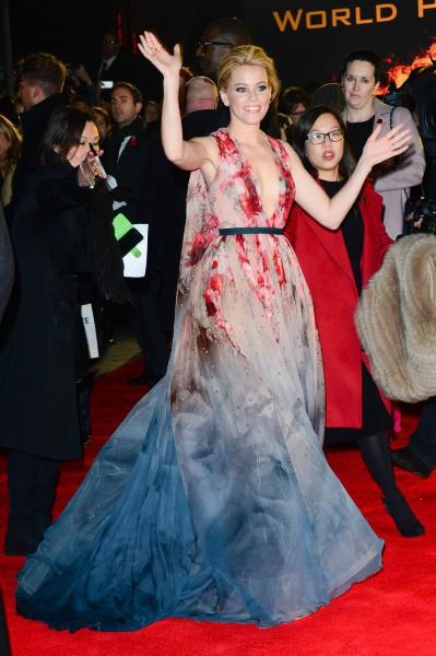 Elizabeth Banks promeut le nouveau volet de Hunger Games à Londres, le 10 novembre 2014