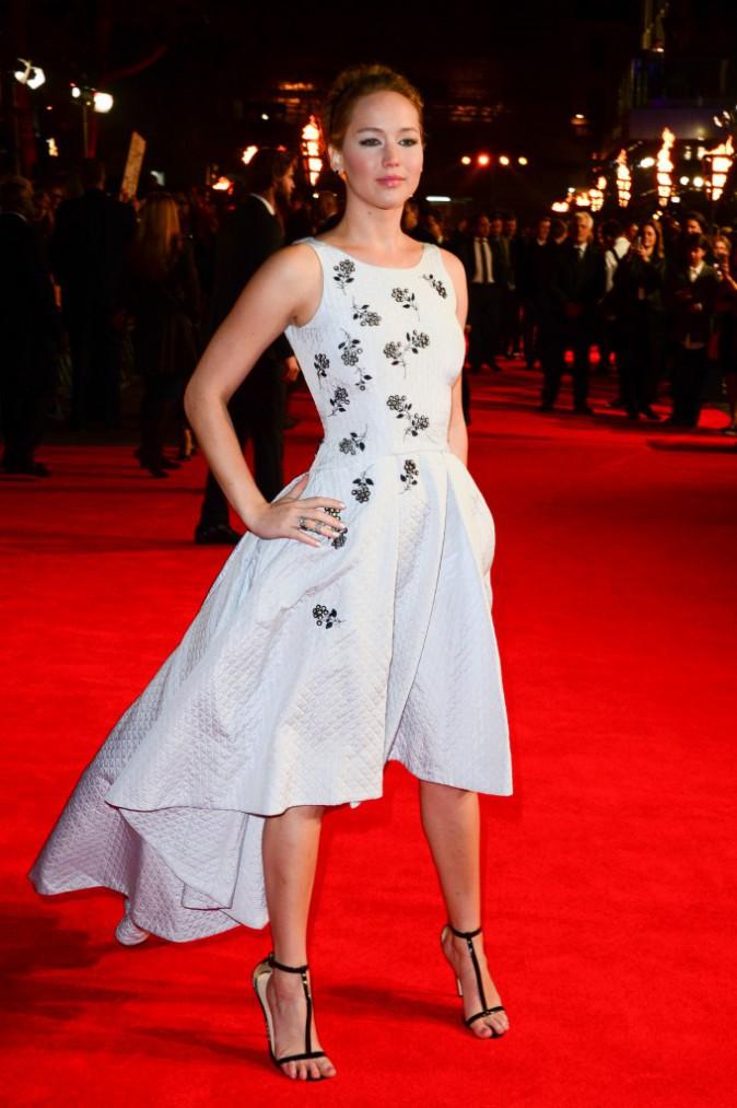 Jennifer Lawrence, la plus belle dans Hunger games 3 ! Le 10 novembre 2014 à Londres