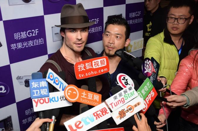 Photos : Ian Somerhalder : 100% charmant à Pékin !
