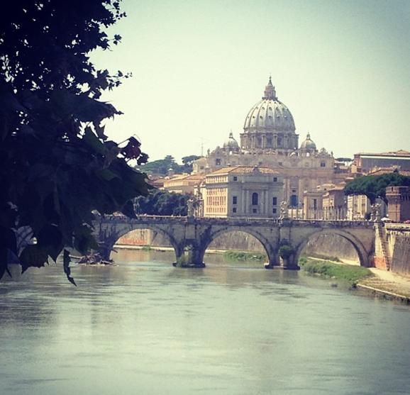 Inna Modja en vacances à Rome