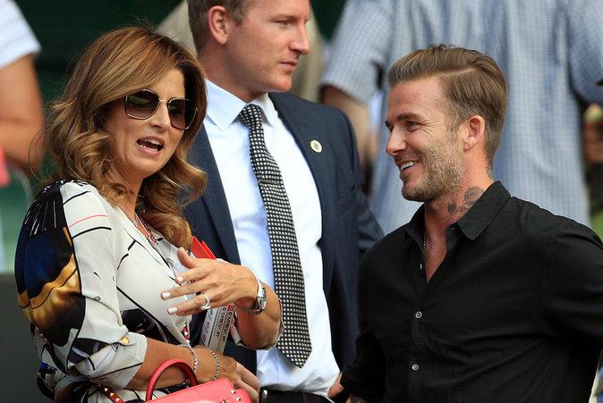 David Beckham avec Mickha Federer le 6 juillet 2016 à Wimbledon
