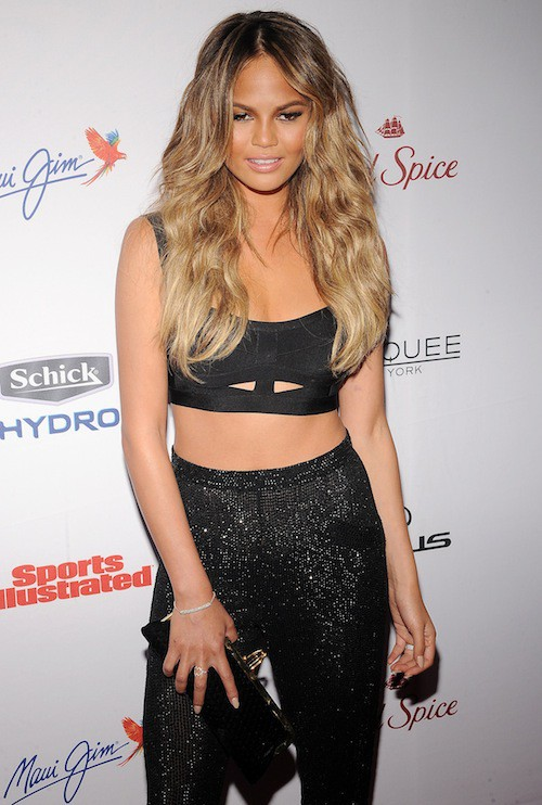 Chrissy Teigen à la soirée Sports Illustrated à  New York, le 10 février 2015