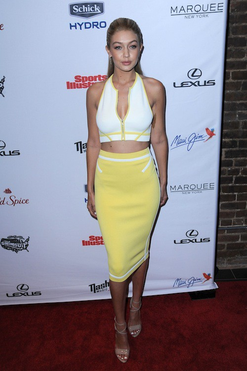 Gigi Hadid à la soirée Sports Illustrated à  New York, le 10 février 2015
