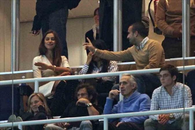 Irina Shayk dans les tribunes du stade de Bernabeu à Madrid le 6 janvier 2013