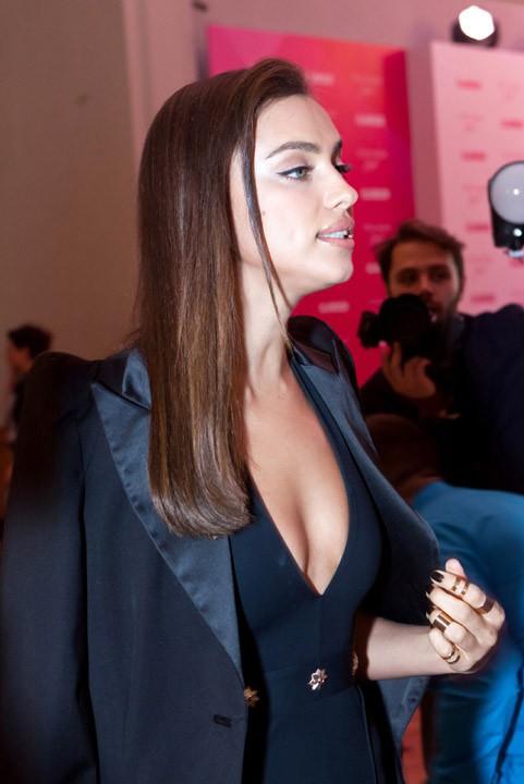 Irina Shayk à Moscou le 11 novembre 2014