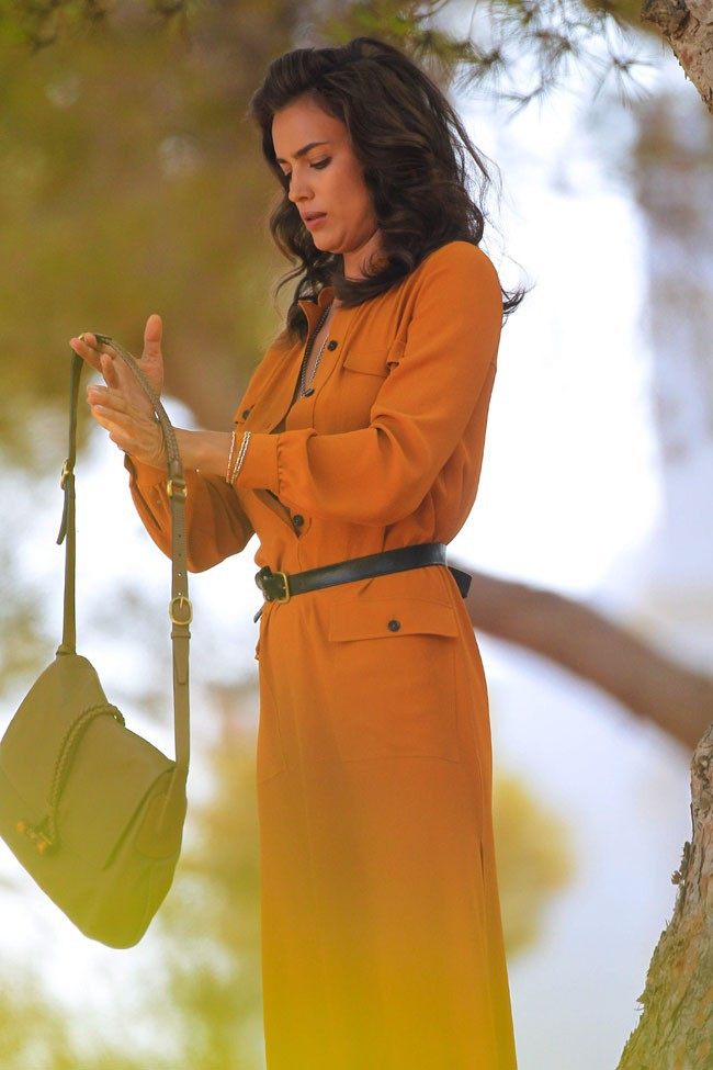 Irina Shayk en shooting pour Roberto Cavalli à Ibiza le 17 juillet 2013