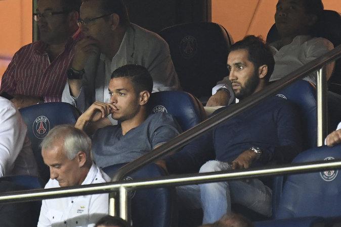 Hatem Ben Arfa au match PSG - Arsenal au Parc des Princes le 13 septembre 2016