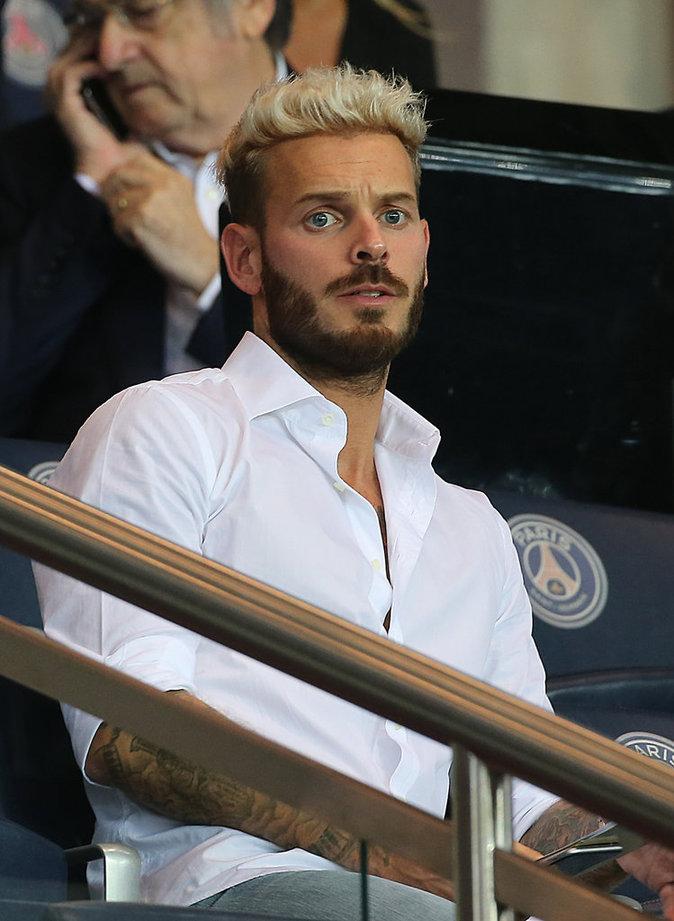 Matt Pokora au match PSG - Arsenal au Parc des Princes le 13 septembre 2016