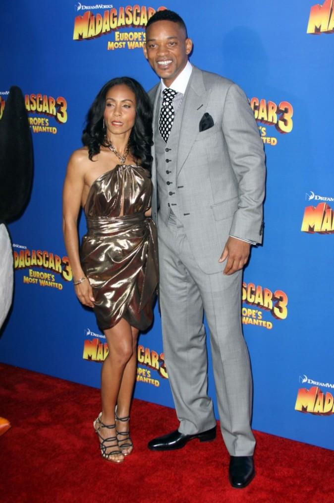 Jada Pinkett et Will Smith lors de la première de Madagascar 3 à New York, le 7 juin 2012.