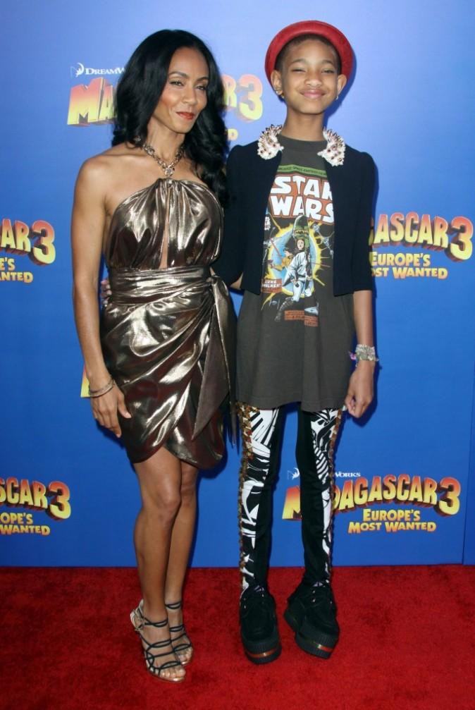 Jada Pinkett et Willow Smith lors de la première de Madagascar 3 à New York, le 7 juin 2012.
