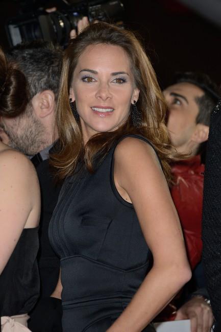 """Mélissa Theuriau lors de la première de """"Tel père, tel fils"""" au Festival International du Film de Marrakech, le 1er décembre 2013."""