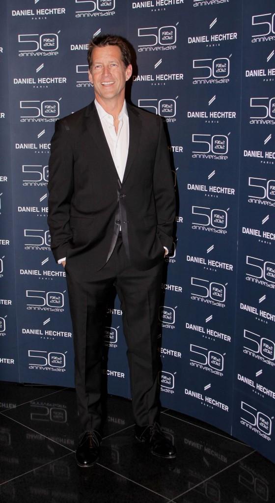 James Denton lors de la soirée des 50 ans de la marque Daniel Hechter à Paris, le 14 février 2012.