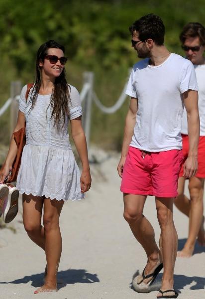 Jamie Dornan et Amelia Warner, Miami, 28 janvier 2013.