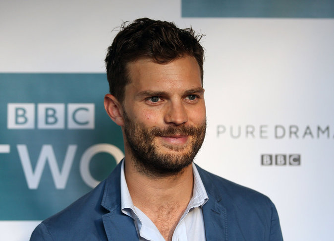 "Jamie Dornan assure la promotion de la série ""The Fall"""