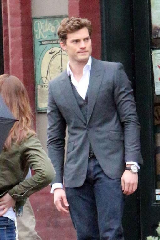 Jamie Dornan sur le tournage de 50 Shades Of Grey à Vancouver le 19 décembre 2013