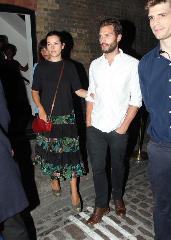 Jamie Dornan et sa femme Amelia à Londres le 31 juillet 2014