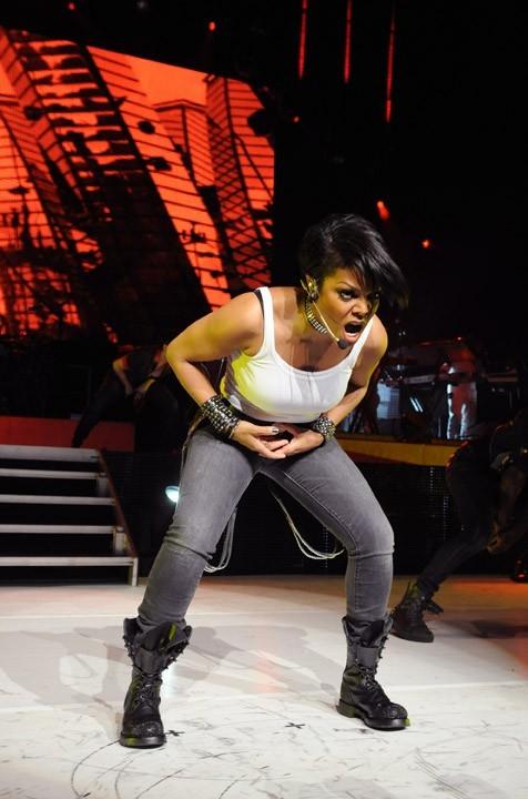 Janet Jackson en concert à Universal City à Los Angeles, le 14 avril 2011.