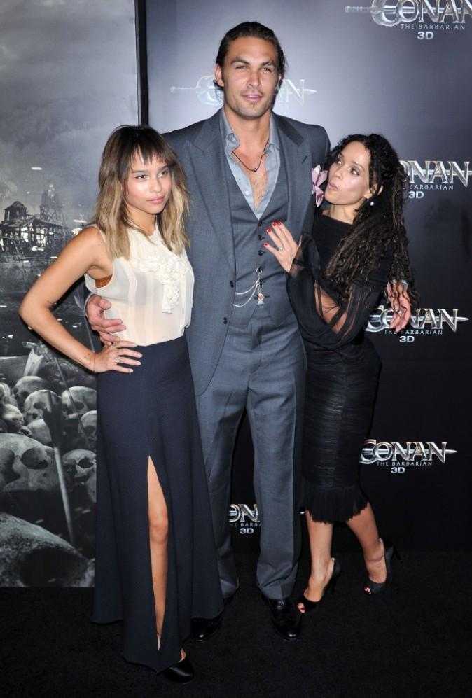 Avec Lisa Bonnet et sa fille Zoe Kravitz.