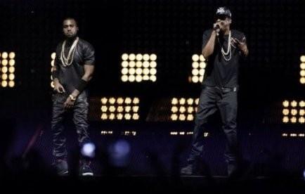 Kanye West et Jay-Z en concert à Paris, le 1er juin 2012.