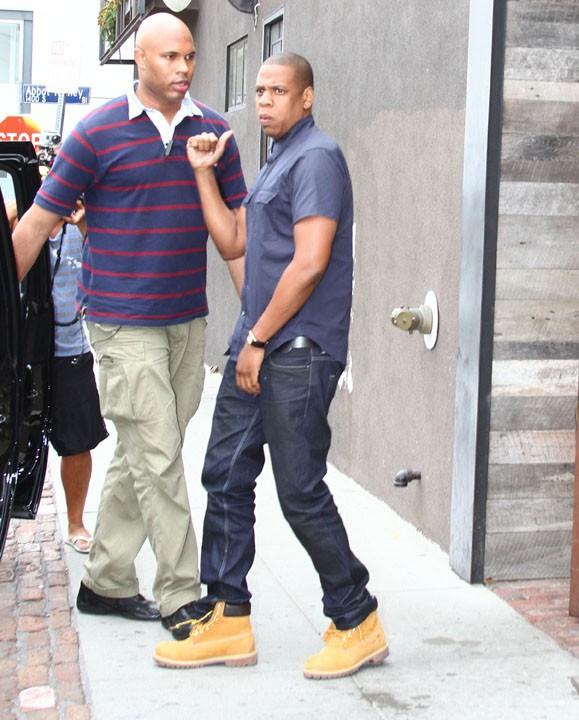 Jay Z à la sortie du restaurant le Gjelina de Venice Beach le 28 juillet 2013