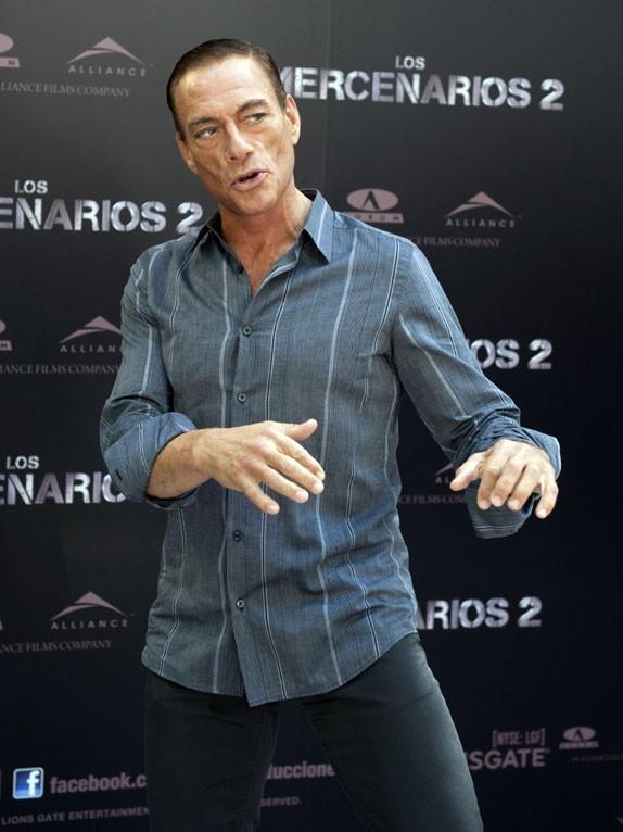 Jean-Claude Van Damme pour la promo de The Expandables 2 à Madrid le 8 août 2012