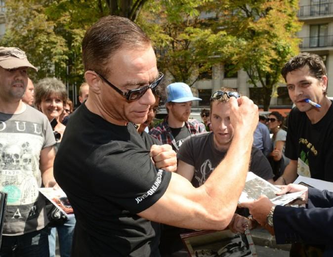 Jean-Claude Van Damme pour la promo de The Expandables 2 à Paris le 9 août 2012