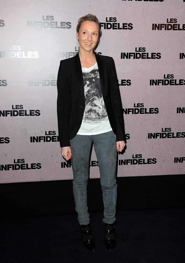 Audrey Lamy, toute simple en jean...