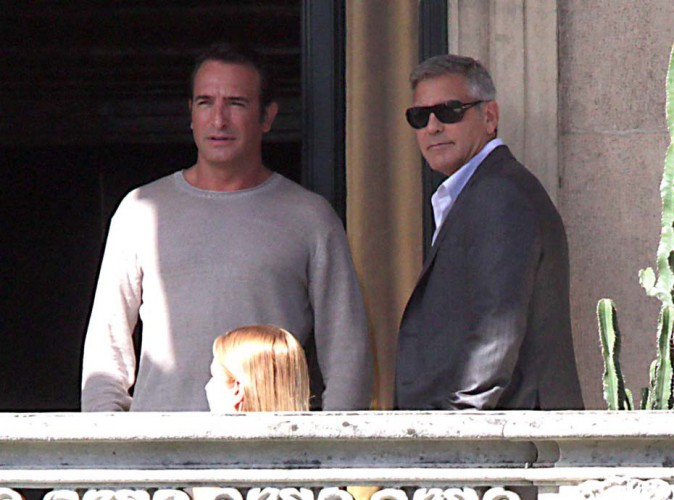 Jean Dujardin et George Clooney : les Monuments Men se retrouvent sur le tournage de la nouvelle pub Nespresso !