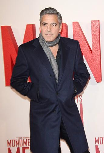 George Clooney à Londres le 11 février 2014