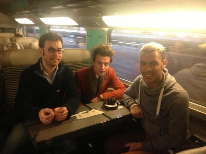 Public avec Sidoine et Daniel dans le train pour Cannes !