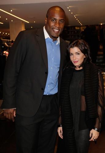Teddy Riner et Jenifer à Paris le 14 novembre 2013