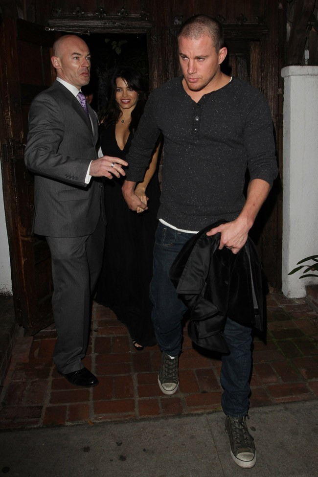 Jenna Dewan et Channing Tatum de sortie au Little Door de Los Angeles le 6 février 2013