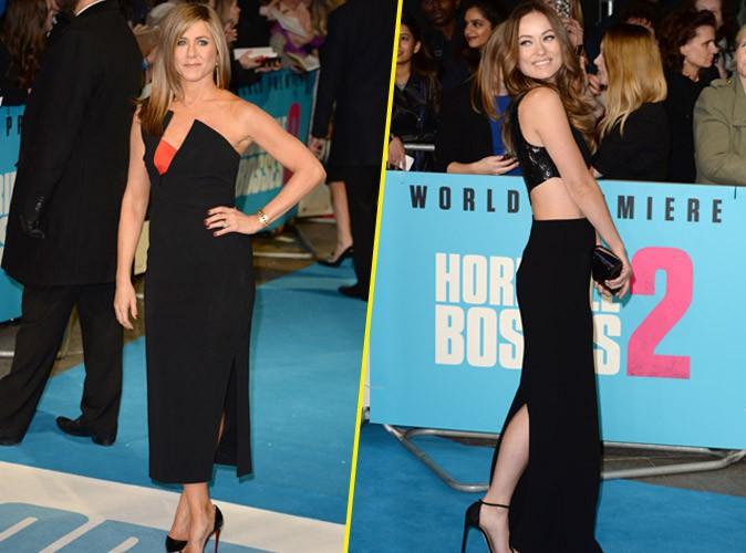 Jennifer Aniston et Olivia Wilde : compétition de glamour sur le blue carpet !
