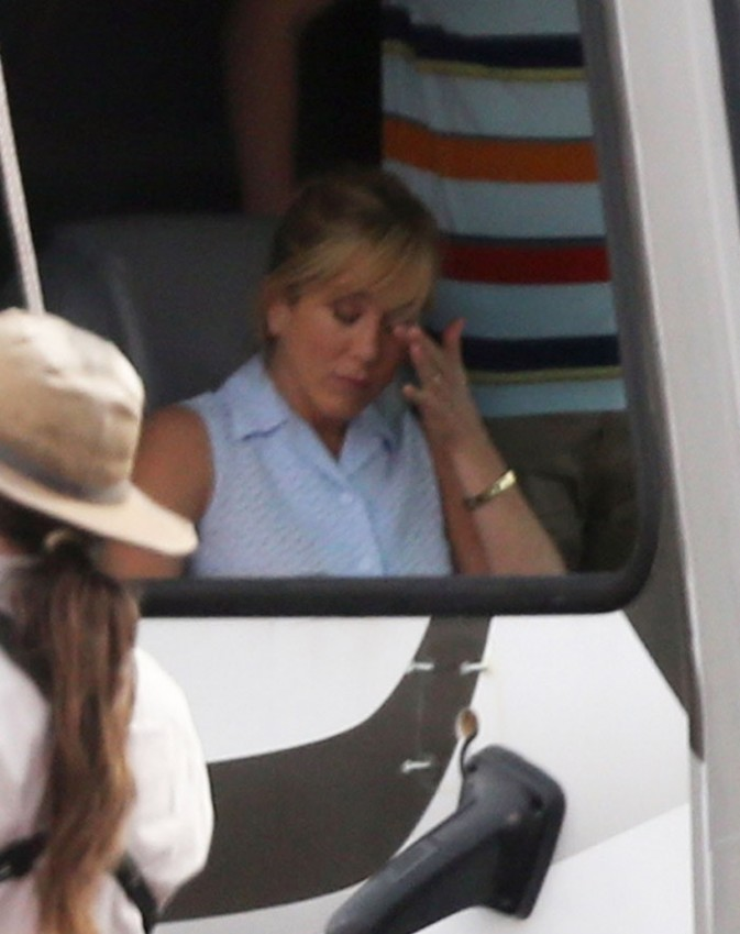 Jennifer Aniston sur le tournage de We're the Millers le 24 septembre 2012