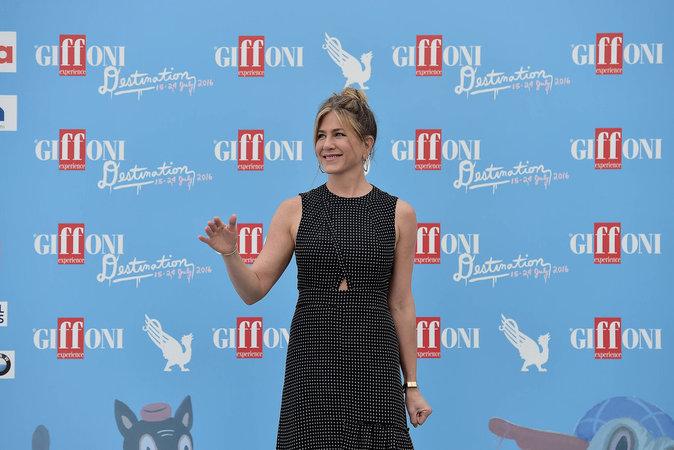 Jennifer Aniston le 23 juillet au Festival Giffoni Valle Piana en Italie