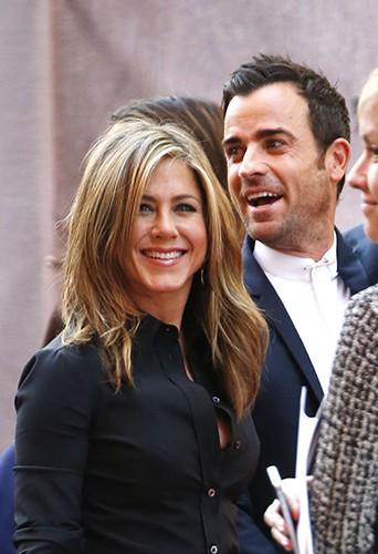 Jennifer Aniston et Justin Theroux à New York le 23 juin 2014