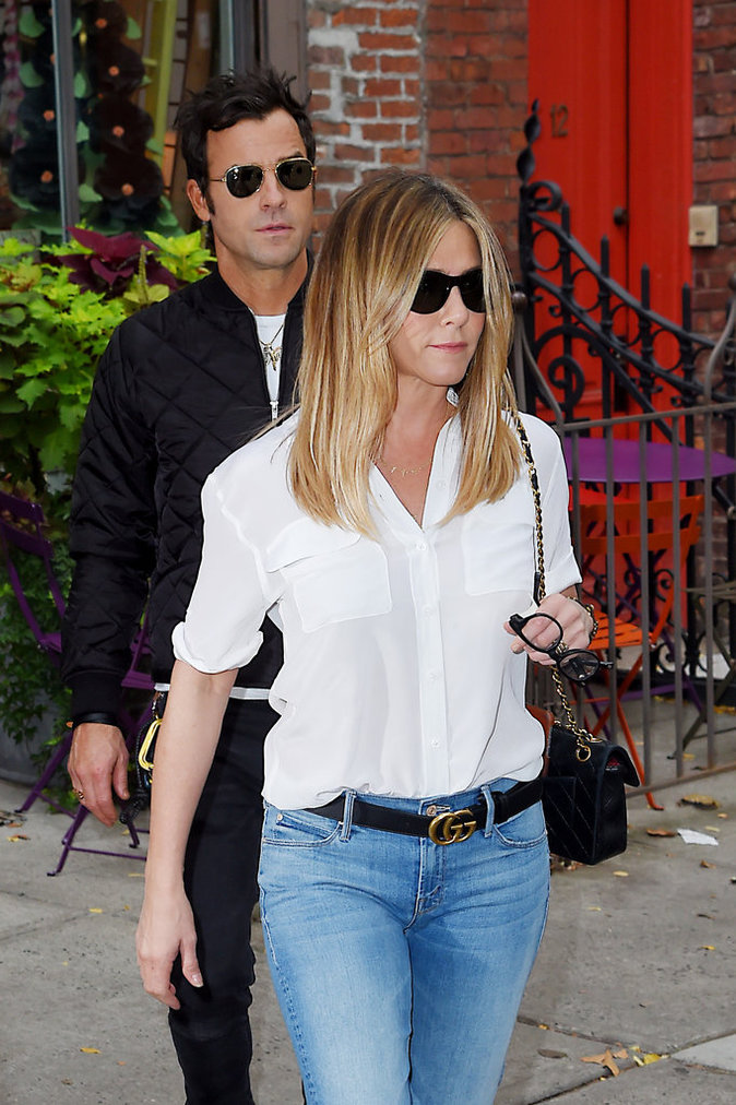 Jennifer Aniston et Justin Theroux à New York le 28 septembre à New York