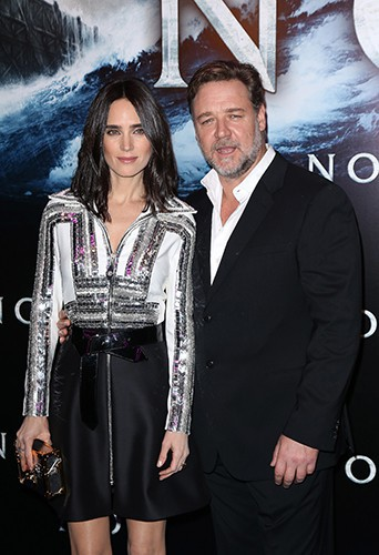 Jennifer Connelly et Russell Crowe à Paris le 1er avril 2014