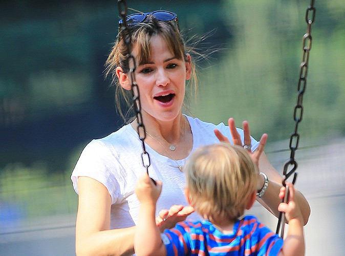 Jennifer Garner en famille à New-York le 4 octobre 2013