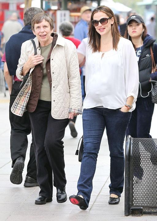 Avec sa maman, Patricia
