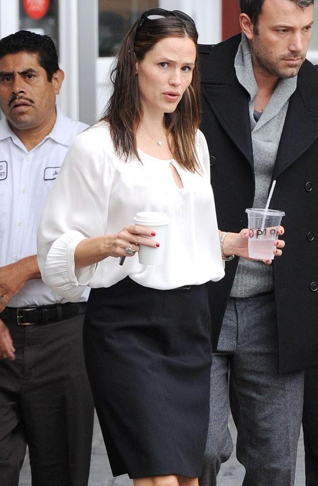 Jennifer Garner et Ben Affleck à Brentwood le 12 septembre 2012