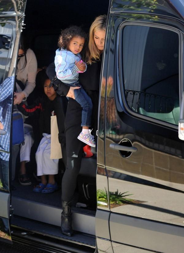 Le mini-van pour Heidi Klum, maman surchargée !