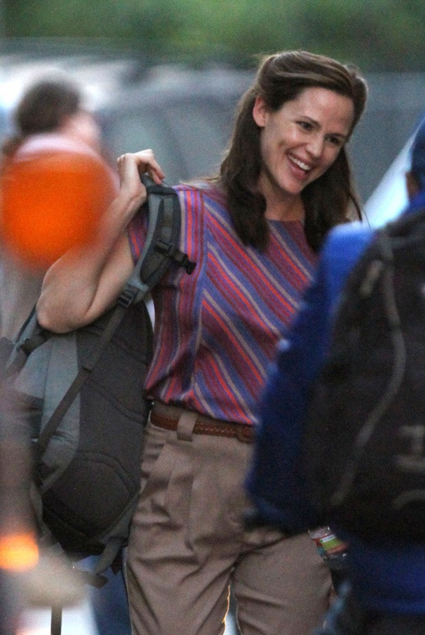 Jennifer Garner sur le tournage de The Dallas Buyers à la Nouvelle-Orléans le 15 novembre 2012